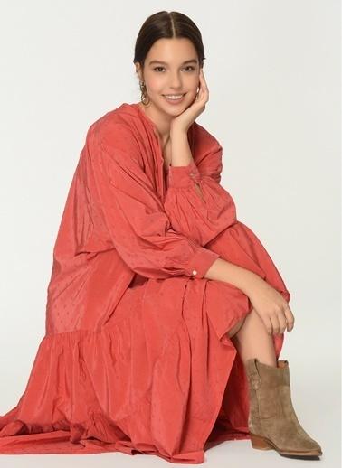 Loves You Nopeli Loose Fit Elbise Kırmızı